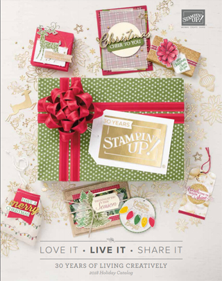 Stampin' up! 2018 Holiday Catalog goes live September 5, Shop with Dawn Olchefske http://bit.ly/shopwithdawn #dostamping #stampinup #holidaycatalog