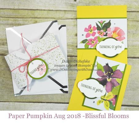 Paper Pumpkin Blissful Blooms Blop Hop | Dawn Olchefske dostamping #stampinup #handmade #cardmaking #stamping #diy #papercrafting #paperpumpkin #blissfulblooms