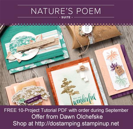 DOstamping Order BONUS - FREE Nature's Poem 20-Project Tutorial PDF, shop with Dawn Olchefske, https://bit.ly/shopwithdawn