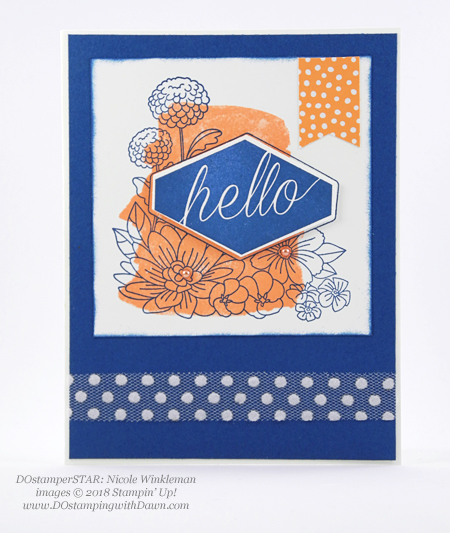 Stampin' Up! Accented Blooms - DOstamperSTARS swaps shared by Dawn Olchefske #dostamping  #stampinup #handmade #cardmaking #stamping #papercrafting #dostamperstars (Nicole Winkleman)