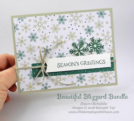 Stampin' Up! Beautiful Blizzard Bundle card by Dawn Olchefske for DOstamperSTARS Thursday Challenge #DSC301 #dostamping #stampinup #handmade #cardmaking #stamping #diy #papercrafting #beautifulblizzard #christmascards