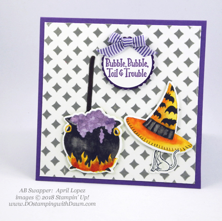 13 Halloween cards using Stampin' Up! 2018 Holiday product shared by Dawn Olchefske #dostamping #stampinup #handmade #cardmaking #stamping #diy #papercrafting#halloweencards (AB Swapper: April Lopez)
