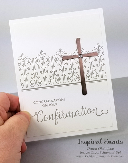 Stampin' Up! Inspired Events card by Dawn Olchefske #dostamping  #stampinup #handmade #cardmaking #rubberstamping #religiouscards