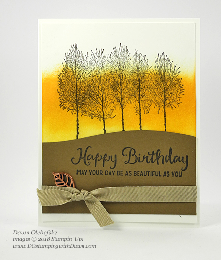 Stampin' Up! Winter Woods Bundle card by Dawn Olchefske for DOstamperSTARS Thursday Challenge #DSC302 #dostamping #stampinup #handmade #cardmaking #stamping #masculinecards #birthdaycards #winterwoods