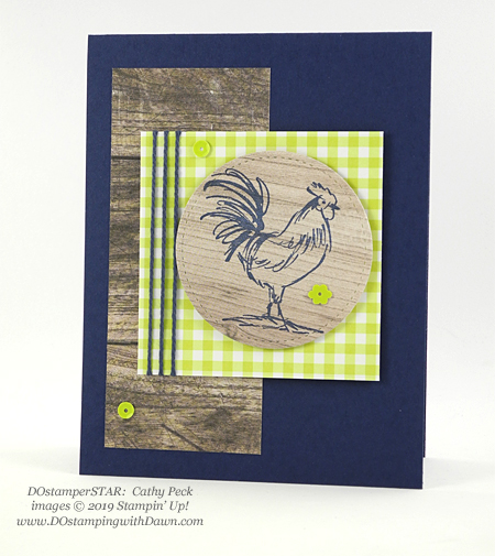 DOstamperSTARS Sale-a-Bration Home to Roost swap card shared by Dawn Olchefske #dostamping #stampinup #handmade #cardmaking #stamping #papercrafting #dostamperstars (Cathy Peck)