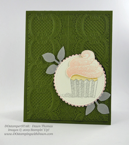 DOstamperSTARS Sale-a-Bration Hello Cupcake swap card shared by Dawn Olchefske #dostamping #stampinup #handmade #cardmaking #stamping #papercrafting #dostamperstars (Dawn Thomas)
