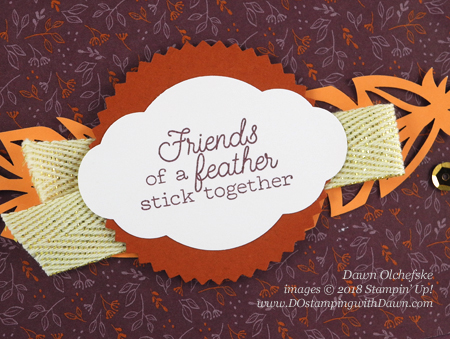 Oct 2018 Paper Pumpkin Friends of a Feather Blop Hop | Dawn Olchefske dostamping #stampinup #handmade #cardmaking #stamping #diy #papercrafting #paperpumpkin #friendsofafeather