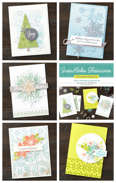 Snowfall Thinlit Dies and more! #stampinup #dostamping #cardmaking #snowflakeshowcase #christmascards #holidaycards, Stampin' Up! November Snowflake Showcase includes Happiness Surrounds and Snow is Glistening stamp sets