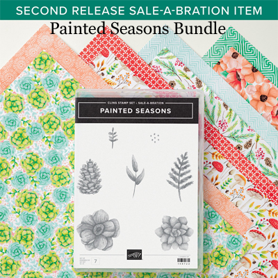 Stampin' Up! 2nd release Sale-a-Bration, Painted Seasons Bundle.  #dostamping #stampinup #paintedseasons #papercrafting