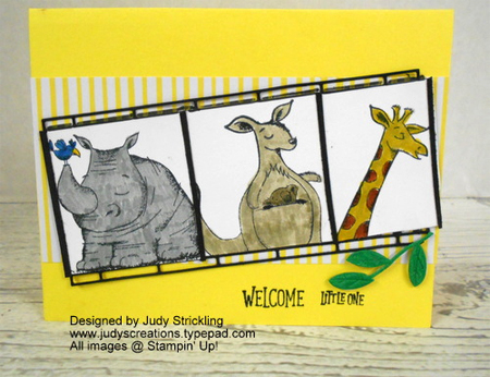 Stampin' Up! Animal Outing cards shared by Dawn Olchefske #dostamping  #stampinup #handmade #cardmaking #stamping #diy #rubberstamping #papercrafting #animalouting (Judy Strickling)