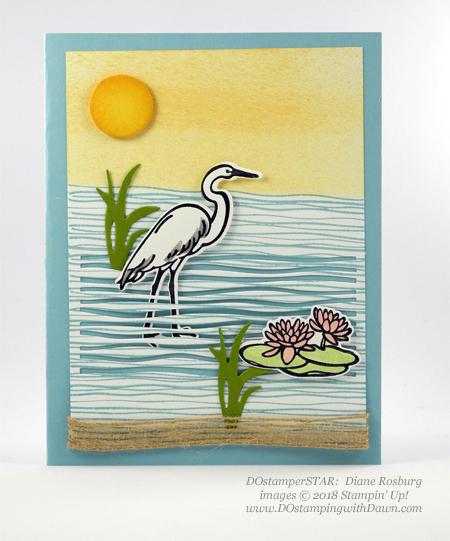 Stampin' Up! Lilypad Bundle card shared by Dawn Olchefske #dostamping #stampinup #handmade #cardmaking #stamping #papercrafting #lilypad (Diane Rosburg)