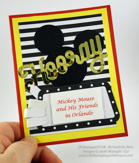 Berni-PP-Mickey-EaselJune 2018 Paper Pumpkin - Broadway Star cards shared by Dawn Olchefske #dostamping #stampinup #handmade #cardmaking #stamping #papercrafting #paperpumpkin #broadwaystar (Bernadette Baio)
