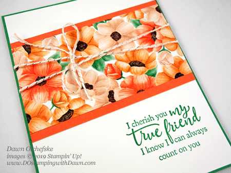 Quick & Cute Stampin' Up! Sale-a-Bration Painted Season Designer Series Paper card by Dawn Olchefske #dostamping #howdshedothat #stampinup #handmade #cardmaking #stamping #papercrafting #paintedseaons