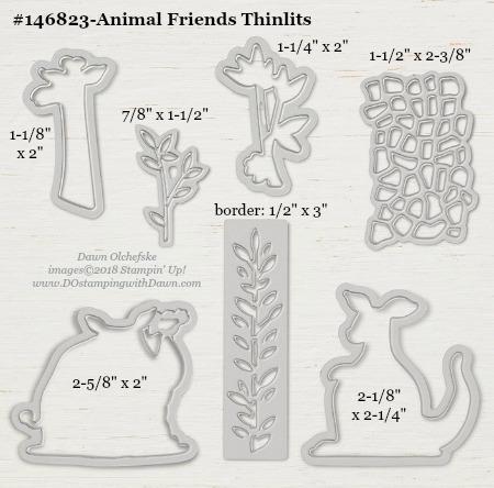 Stampin' Up! Animal Friends Thinlit #dostamping #stampinup #animalfriends #bigshot #diy #handmade #cardmaking