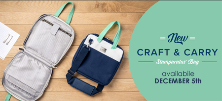 NEW Stampin' Up! Craft & Carry Stamparatus Bag - available starting December 5th #dostamping #stampinup #stamparatus #craftandcarry