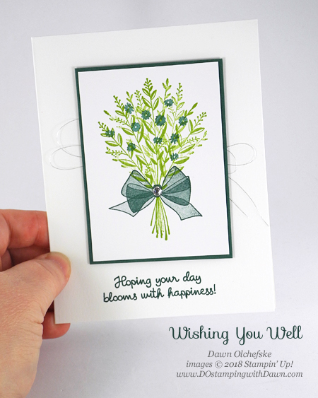 Stampin' Up! Wishing You Well card from Dawn Olchefske #dostamping  #stampinup #handmade #cardmaking #stamping #papercrafting #dostampingwithdawn #simplestamping