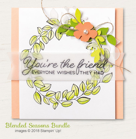 Color Your Season, Stampin' Up! August promotion includes Blended Season stamp set and Stitched Seasons Framelits #dostamping  #stampinup #handmade #cardmaking #stamping #diy #rubberstamping #papercrafting