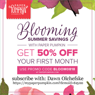 Paper Pumpkin Blooming Summer Savings, Get 50% off your first month #dostamping #paperpumpkin