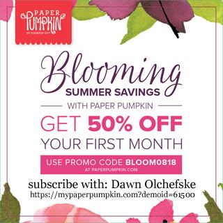 Paper Pumpkin Blooming Summer Savings, Get 50% off your first month #dostamping #paperpumpkin