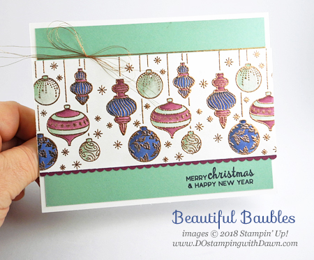 Stampin' Up! Beautiful Baubles card shared by Dawn Olchefske #dostamping  #stampinup #handmade #cardmaking #stamping #papercrafting #howdshedothat #beautifulbaubles