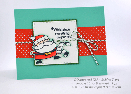 DOstamperSTARS holiday swaps shared by Dawn Olchefske #dostamping  #stampinup #cardmaking #stamping #papercrafting (Bobbie Trost)