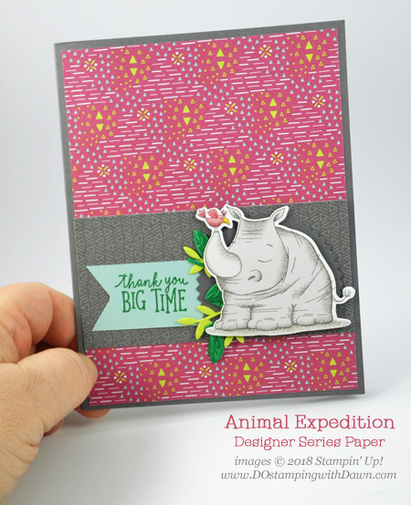 Animal Expedition Designer Series Paper projects shared by Dawn Olchefske #dostamping #stampinup #handmade #cardmaking #stamping #papercrafting #animalouting #animalexpedition, Stampin' Up! Animal Outing Bundle
