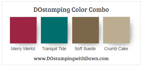 Stampin' Up! Color Combo: Merry Merlot, Tranquil Tide, Soft Suede, Crumb Cake #dostamping #stampinup