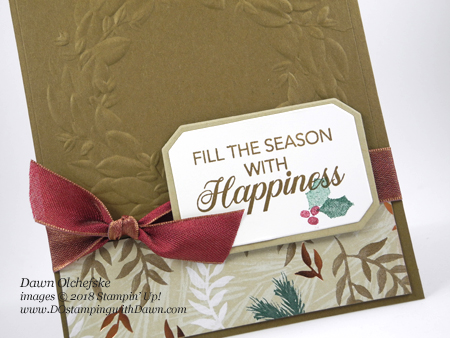 Stampin' Up! Peaceful Noel card by Dawn Olchefske for DOstamperSTARS Thursday Challenge #DSC 294 #dostamping #stampinup #handmade #cardmaking #stamping #diy #rubberstamping #papercrafting