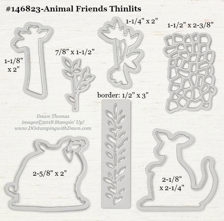 Animal-Friends-146823-DOstamping Stampin' Up! Framelits Measurements sizes for 2018-2019 Annual Catalog #stampinup #dostamping #framelitsizes