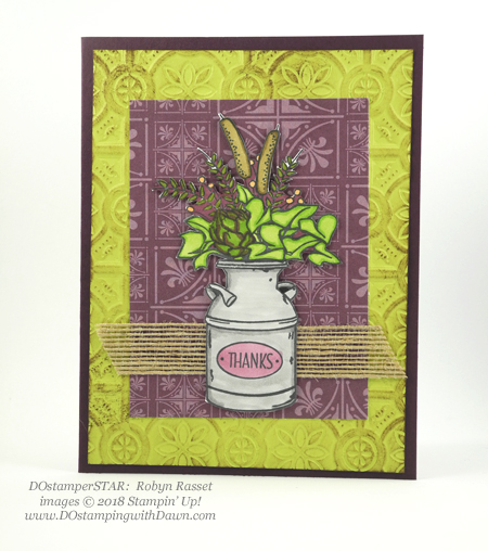 DOstamperSTARS sharing Stampin' Up!'s new Country Lane Suite cards #dostamping  #stampinup #handmade #cardmaking #stamping #diy #papercrafting #stampinblends #countrylane (Robyn Rasset)