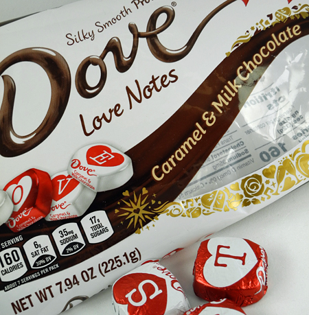 Dove Candy Love Notes DIY box