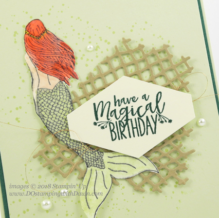 Stampin' Up! Magical Mermaid card shared by Dawn Olchefske #dostamping  #stampinup #handmade #cardmaking #stamping #diy #rubberstamping #papercrafting #magicalmermaid #birthdaycards