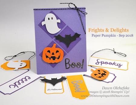 September 2018 Paper Pumpkin Frights & Delights Blop Hop | Dawn Olchefske dostamping #stampinup #handmade #cardmaking #stamping #diy #papercrafting #paperpumpkin #frightsanddelights