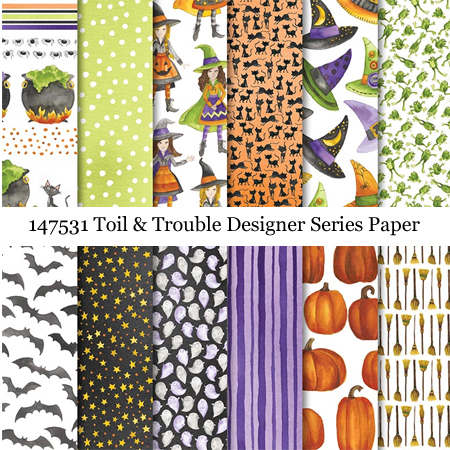 147531-Toil & Trouble Designer Series Paper #stampinup #dostamping #toilandtrouble