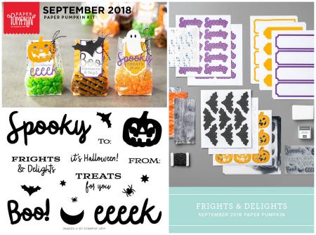 September 2018 Paper Pumpkin Frights & Delights Kit #dostamping #paperpumpkin #cardkits