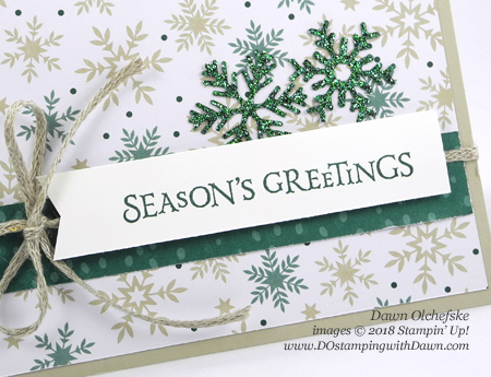 Stampin' Up! Beautiful Blizzard Bundle card by Dawn Olchefske for DOstamperSTARS Thursday Challenge #DSC301 #dostamping #stampinup #handmade #cardmaking #stamping #diy #papercrafting #beautifulblizzard #christmascards