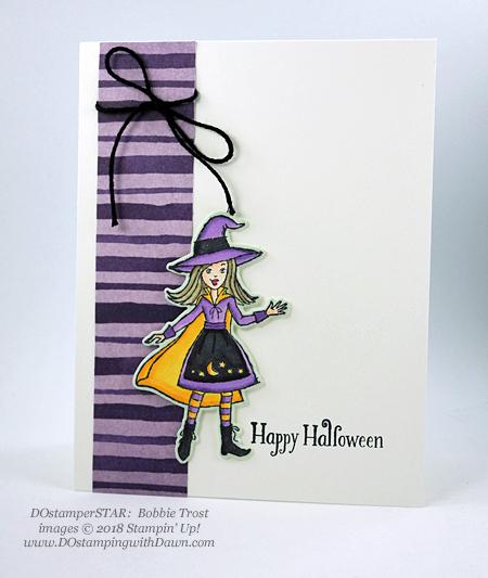 13 Halloween cards using Stampin' Up! 2018 Holiday product shared by Dawn Olchefske #dostamping #stampinup #handmade #cardmaking #stamping #diy #papercrafting#halloweencards (DOstamperSTAR: Bobbie Trost)