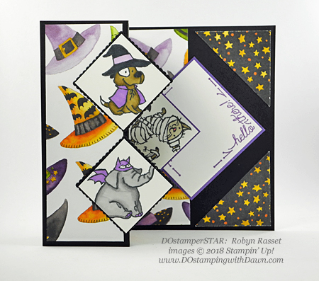 13 Halloween cards using Stampin' Up! 2018 Holiday product shared by Dawn Olchefske #dostamping #stampinup #handmade #cardmaking #stamping #diy #papercrafting#halloweencards (DOstamperSTAR: Robyn Rasset)