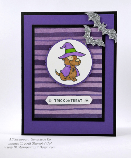 13 Halloween cards using Stampin' Up! 2018 Holiday product shared by Dawn Olchefske #dostamping #stampinup #handmade #cardmaking #stamping #diy #papercrafting#halloweencards (AB Swapper: Genevieve Ko)