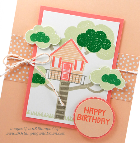 Stampin' Up! Treehouse Adventure card shared by Dawn Olchefske #dostamping  #stampinup #handmade #cardmaking #rubberstamping #papercrafting #kidscards