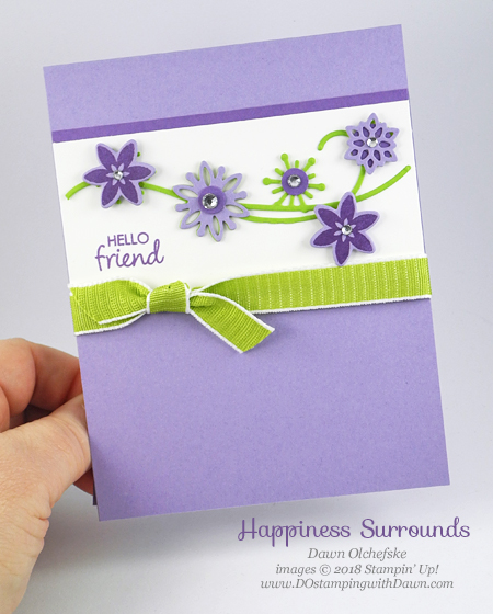 Stampin' Up! Happiness Surrounds card from Dawn Olchefske #dostamping  #stampinup #handmade #cardmaking #stamping #diy #papercrafting #snowflakeshowcase