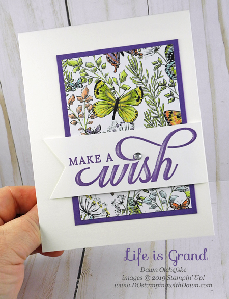 Stampin' Up! Life is Grand, Botanical Butterfly DSP (free during Sale-a-Bration by Dawn Olchefske #dostamping #howdshedothat #stampinup #handmade #cardmaking #stamping #papercrafting #simplestamping #birthdaycards