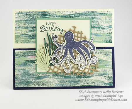 Stampin' Up! Tranquil Textures Suite Week Day 4, swaps shared by Dawn Olchefske #dostamping  #stampinup #handmade #cardmaking #stamping #papercrafting #tranquiltextures #seaoftextures (KellyBurkart