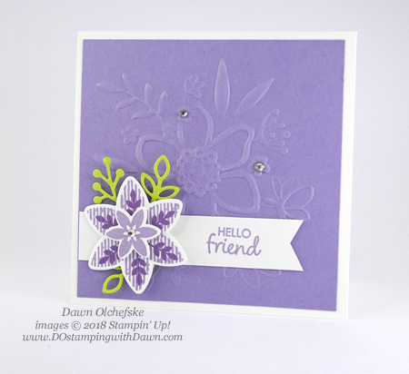 Stampin' Up! Happiness Surrounds card shared by Dawn Olchefske #dostamping  #stampinup #handmade #cardmaking #stamping #papercrafting #happinesssurrounds #snowflakeshowcase