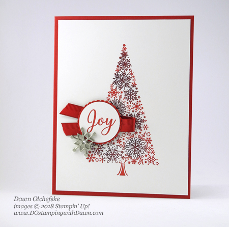 Stampin' Up! Snow is Glistening Sponge Dauber Trick card by Dawn Olchefske for DOstamperSTARS Thursday Challenge #DSC305 #dostamping #stampinup #handmade #cardmaking #stamping #papercrafting #snowisglistening #snowflakeshowcase