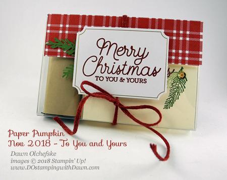 Nov 2018 Paper Pumpkin To You and Yours Blop Hop | Dawn Olchefske dostamping #stampinup #handmade #cardmaking #stamping #papercrafting #paperpumpkin #toyouandyours #simplestamping
