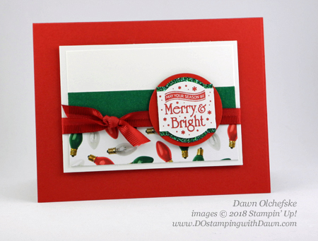 Stampin' Up! Christmas Traditions Punch Box card from Dawn Olchefske #dostamping #stampinup #handmade #cardmaking #stamping #papercrafting#how