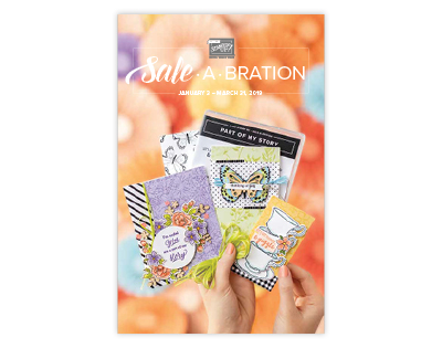 2019 Stampin' Up! Sale-a-Bration Brochure - get FREE products with $50 orders #stampinup #dostamping