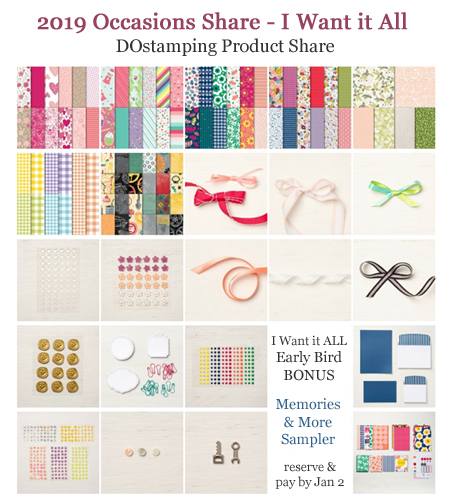 DOstamping 2019 Occasions Catalog Product Shares - I Want it ALL offered by Dawn Olchefske #productshares #howdshedothat #dostamping