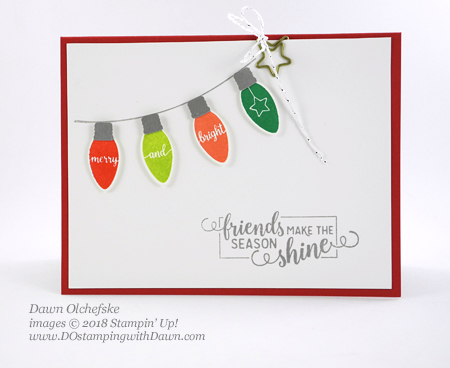 Stampin' Up! Making Christmas Bright Bundle card by Dawn Olchefske for DOstamperSTARS Thursday Challenge #DSC307 #dostamping #stampinup #handmade #cardmaking #stamping #papercrafting #howdshedothat #christmascards